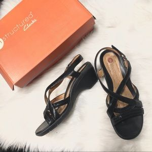 Unstructured by Clark's Crow Sandal In Black Snake